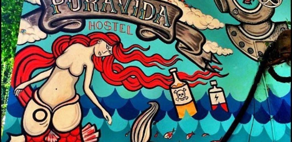 mural do hostel