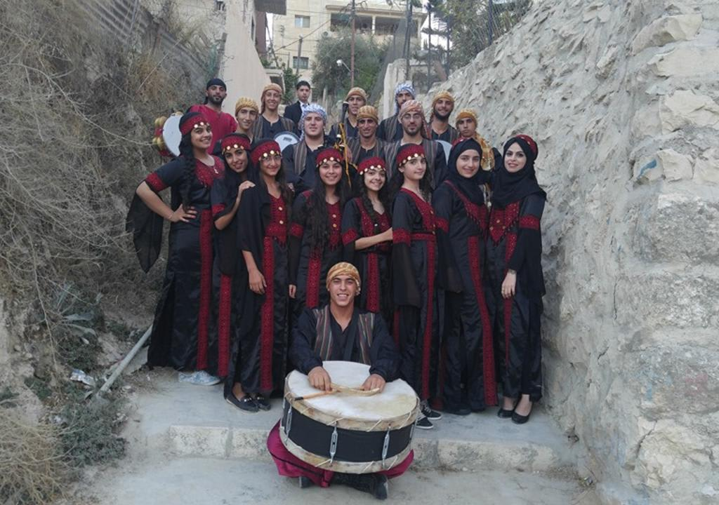 Grupo de projeto social na Palestina