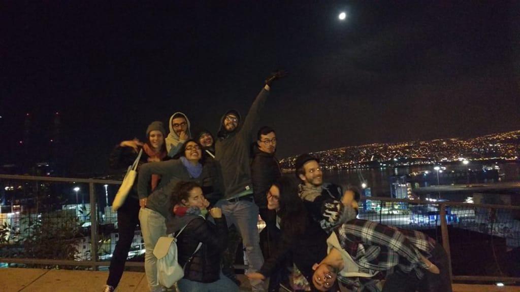 Passeio de voluntários por Valparaíso