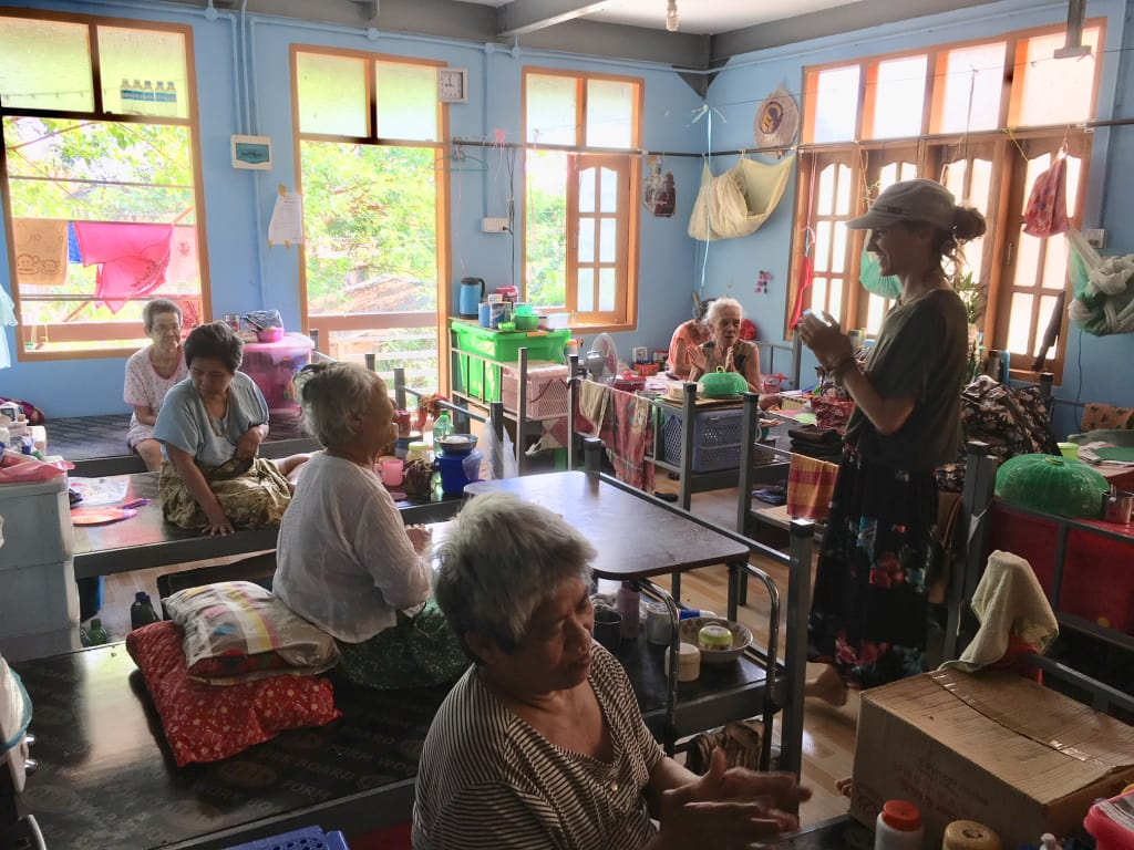 Elevating karma teaching people