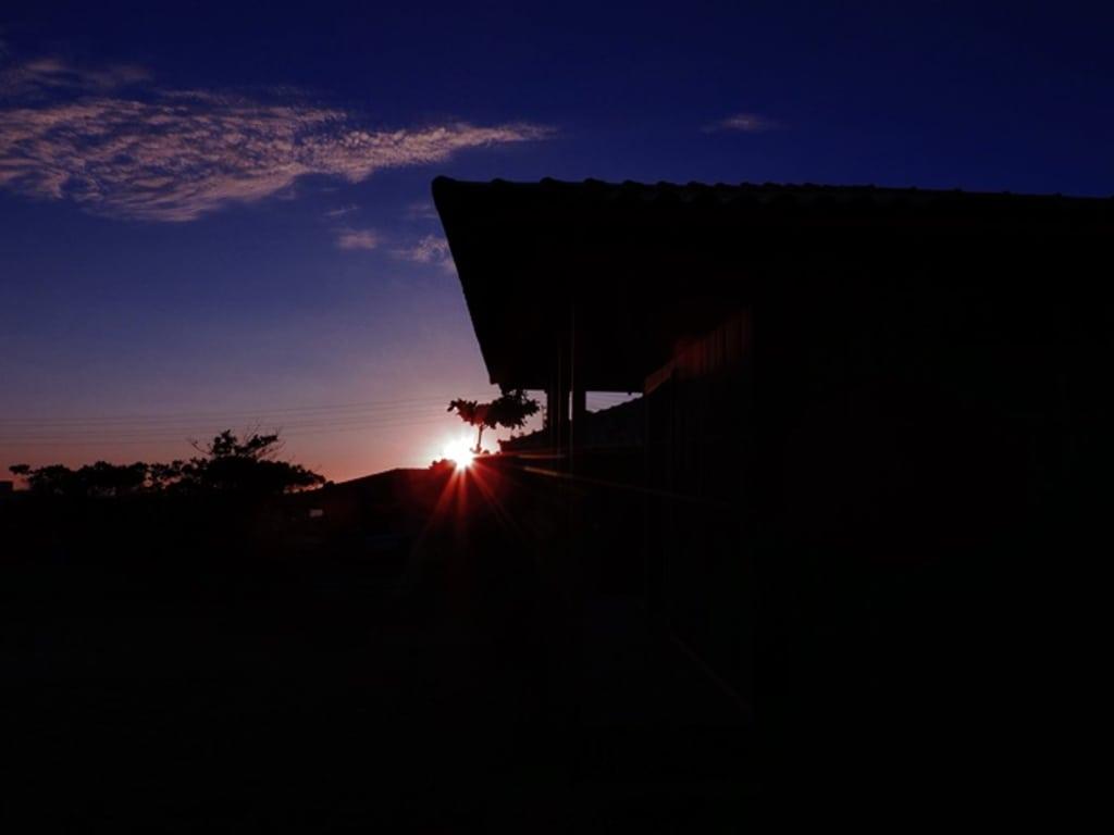 amanhecer na pousada