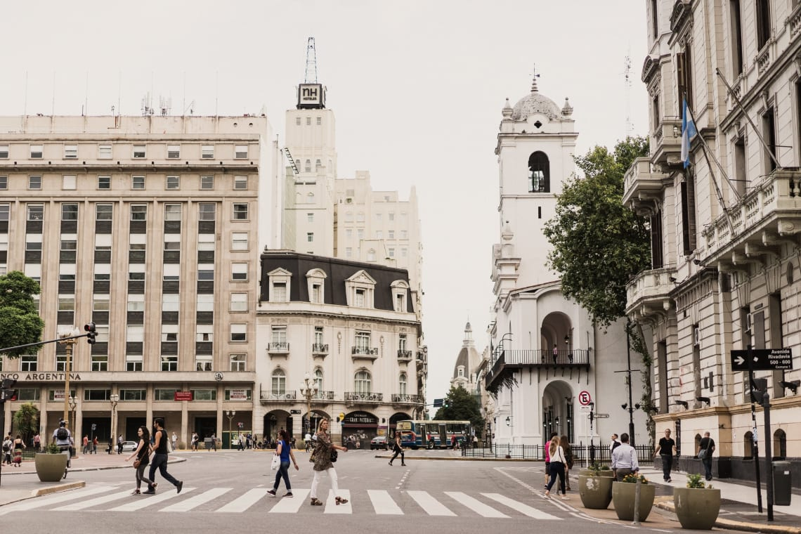 Beautiful streets of Buenos Aires, Argentina.