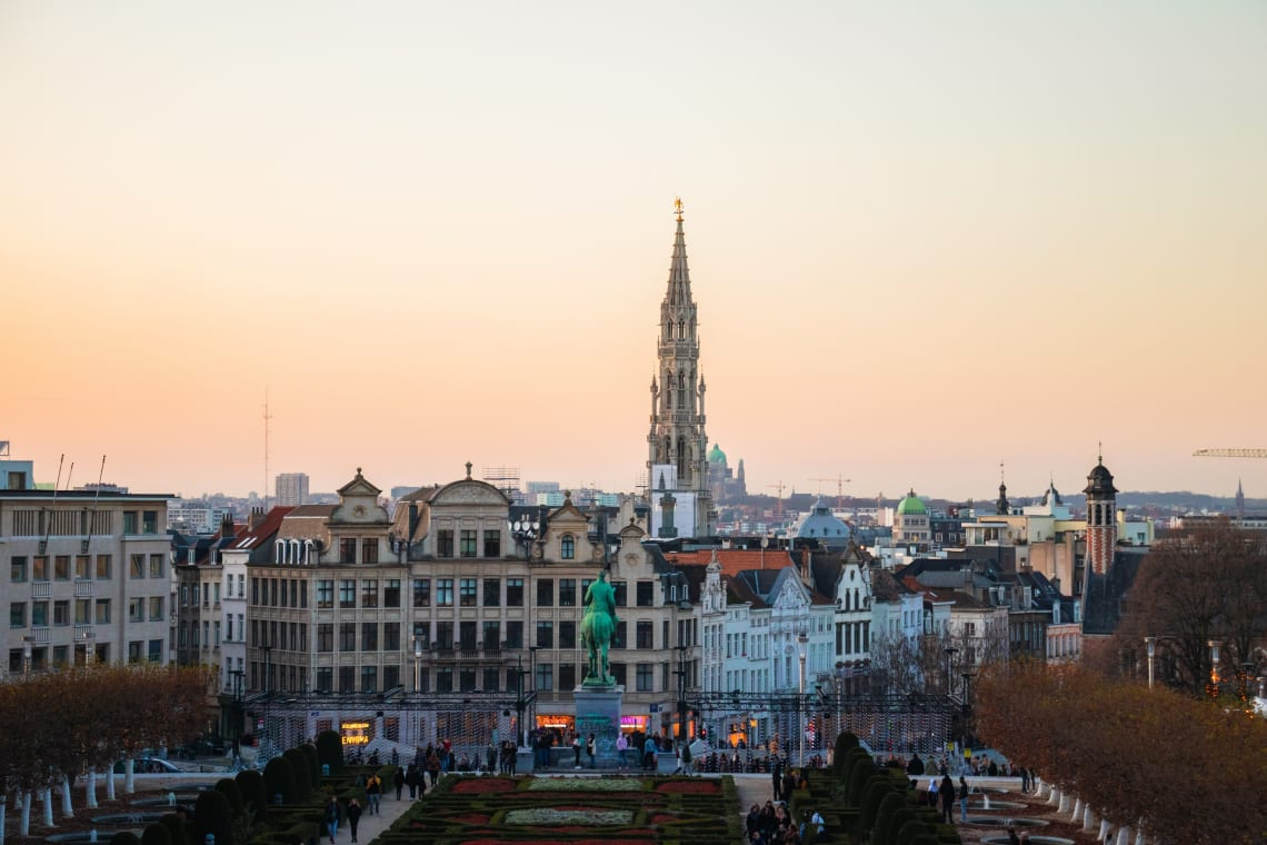 Places to visit in Brussels: Mont des Arts