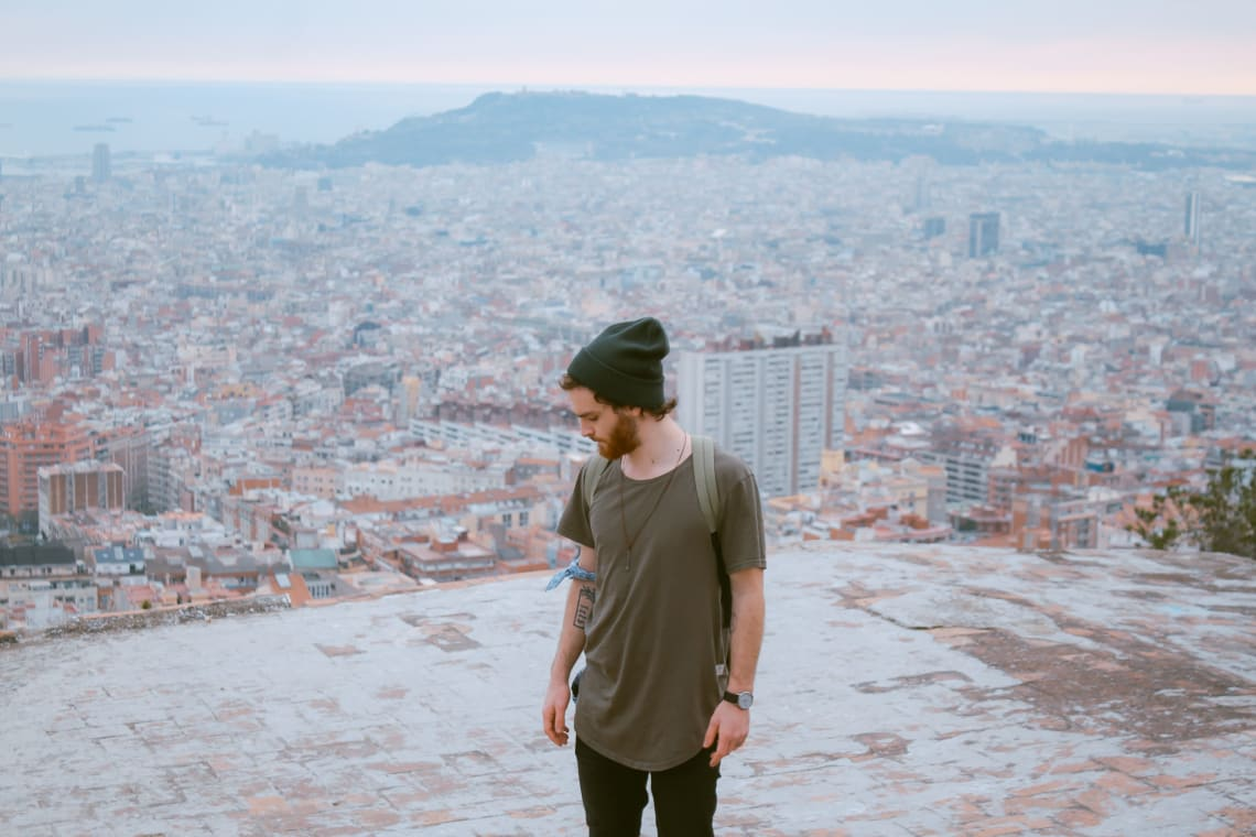 Solo traveler, Barcelona, Spain