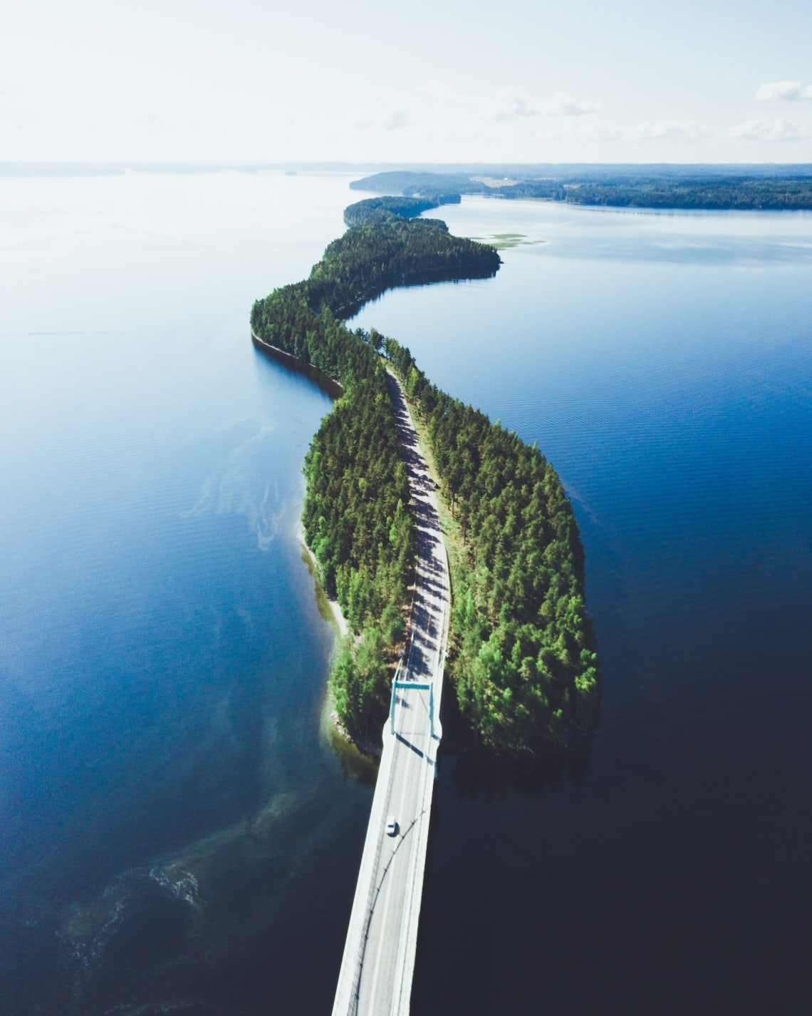 Unique road in Asikkala, Finland