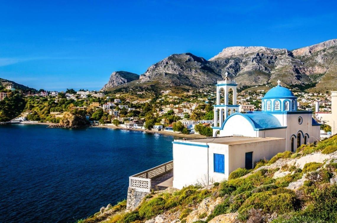 Mejores destinos para viajar solo y barato - Worldpackers - vista de Cos Grecia