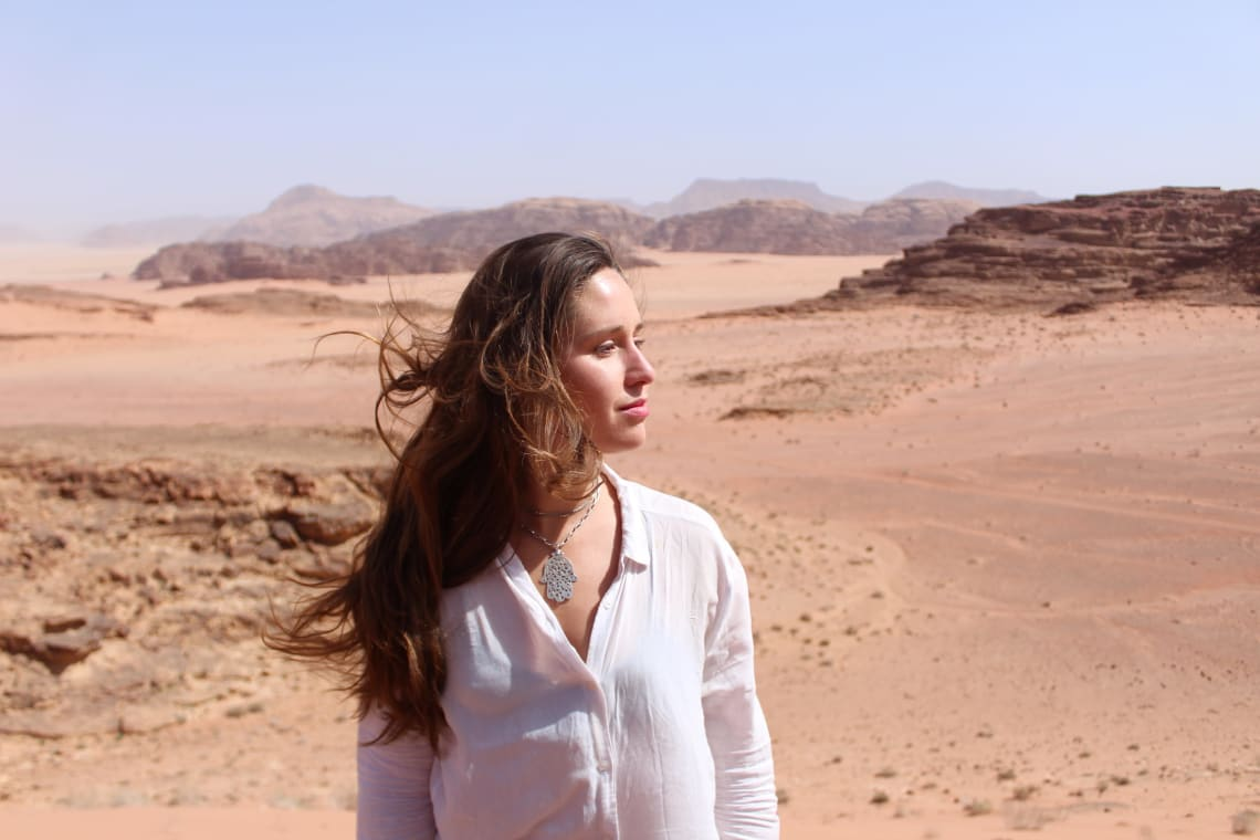 Magical desert landscape of Wadi Rum, Jordan.