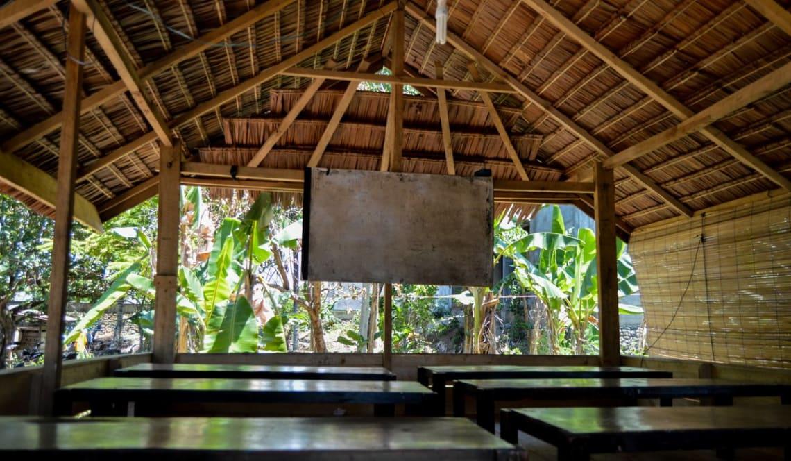 Haciendo un voluntariado como profesor de inglés en Indonesia - Worldpackers - salón de clases de escuela en Indonesia