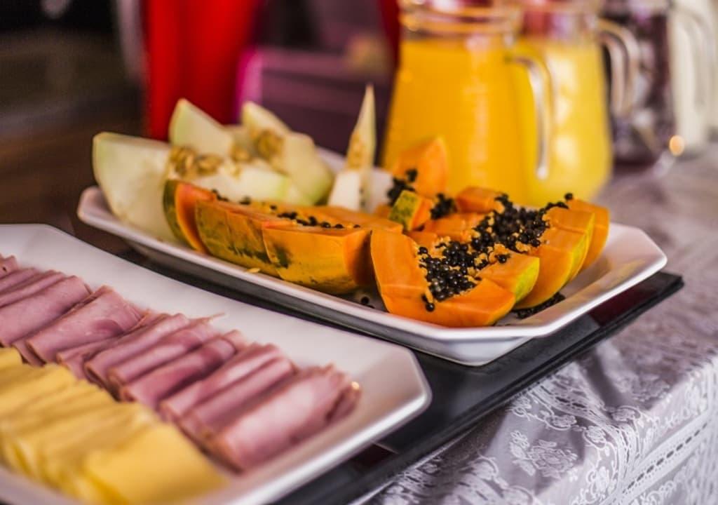 Café da manhã em um hostel