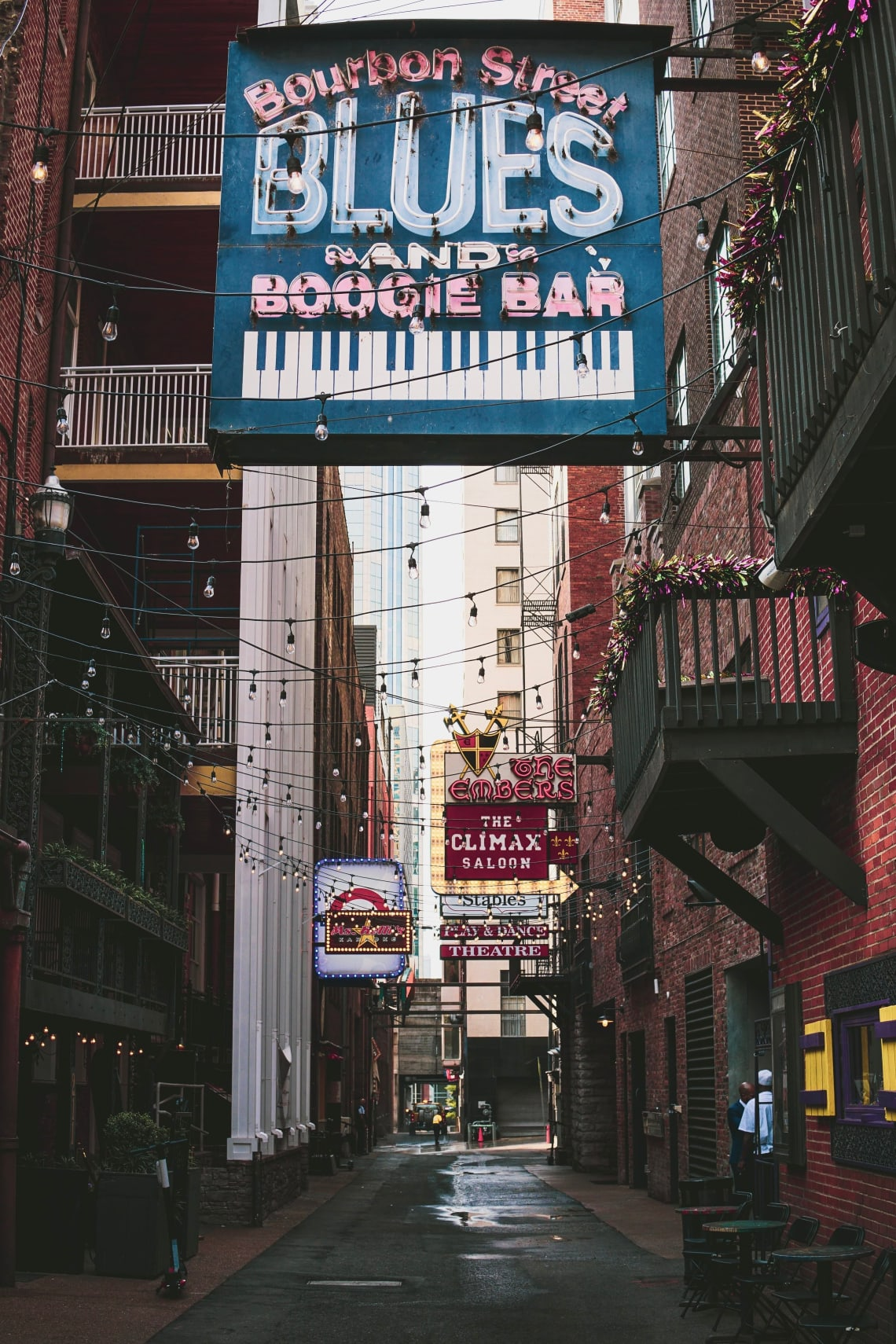 Bars and venues in downtown Nashville, Tennessee, United States