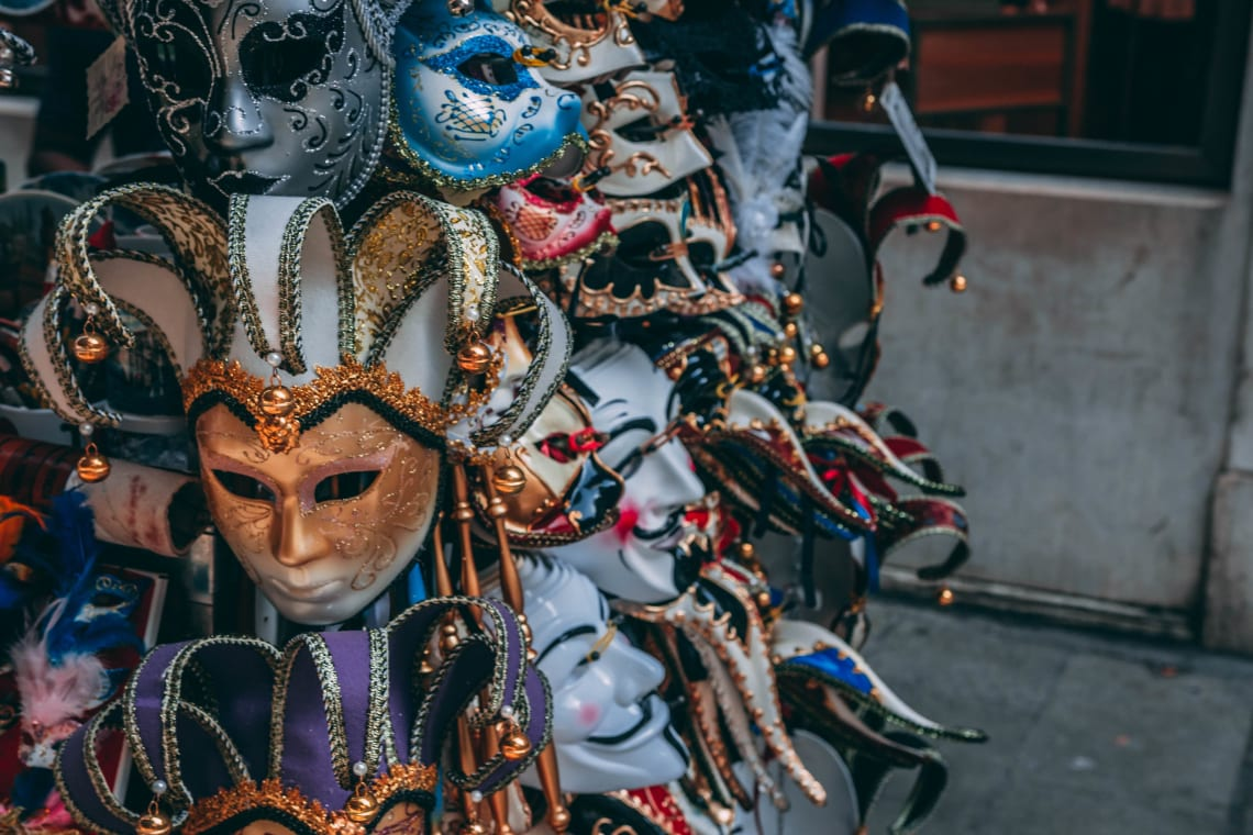 Top things to do in New Orleans during Mardi Gras: pick out a mask at the French Market