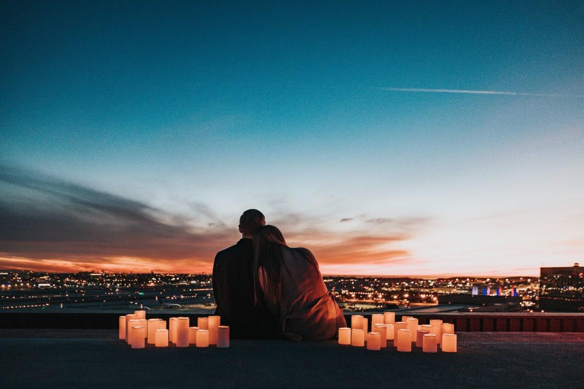 Couple enjoying the sunset, Los Angeles, United States