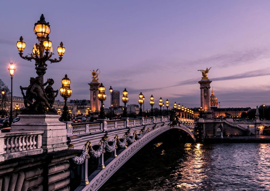 Parisian bridge, Paris, France