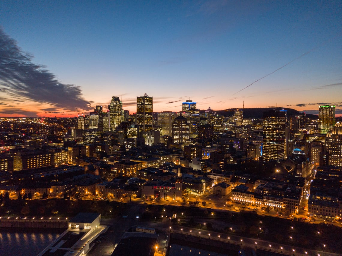 Vista de Montreal, segunda maior cidade do país