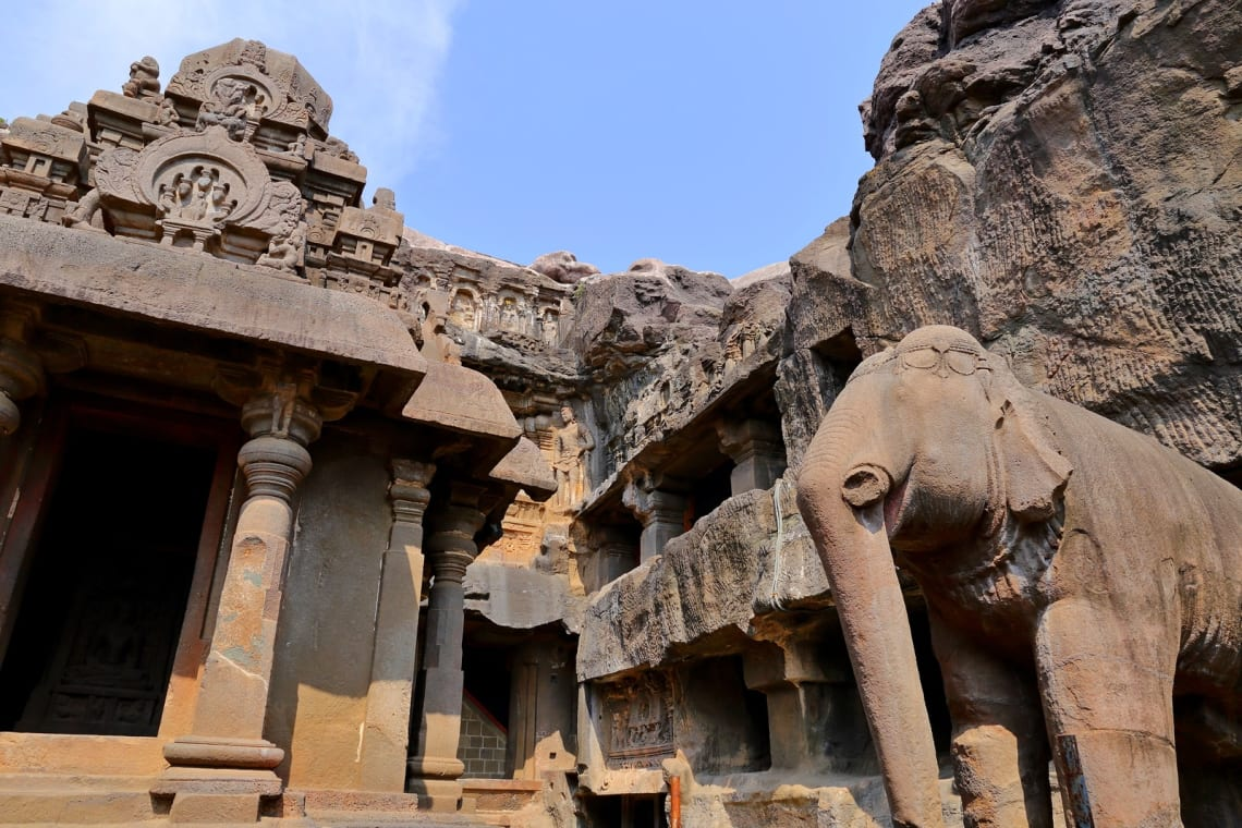 Inspirational places in the world: Kailasa Temple,Maharashtra, India