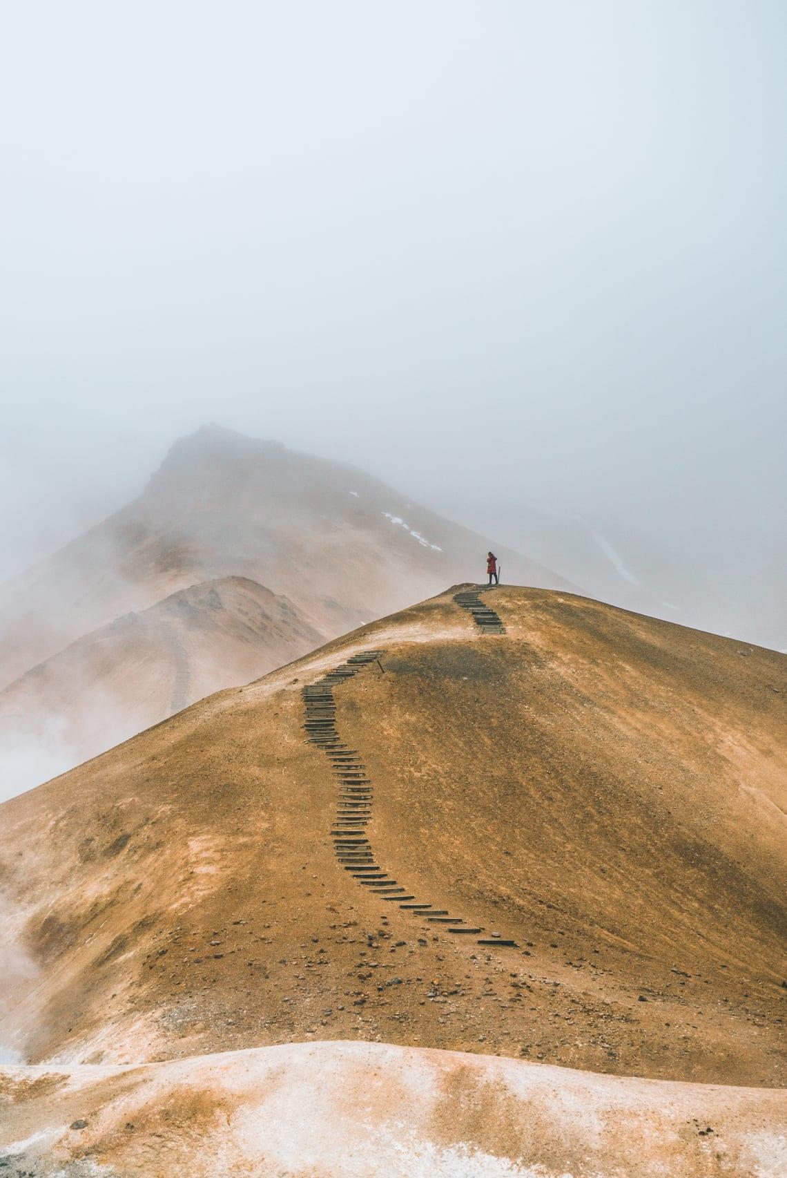 Lone explorer, Iceland