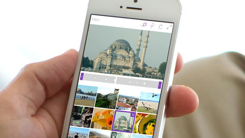 também é possível produzir e editar vídeos no celular