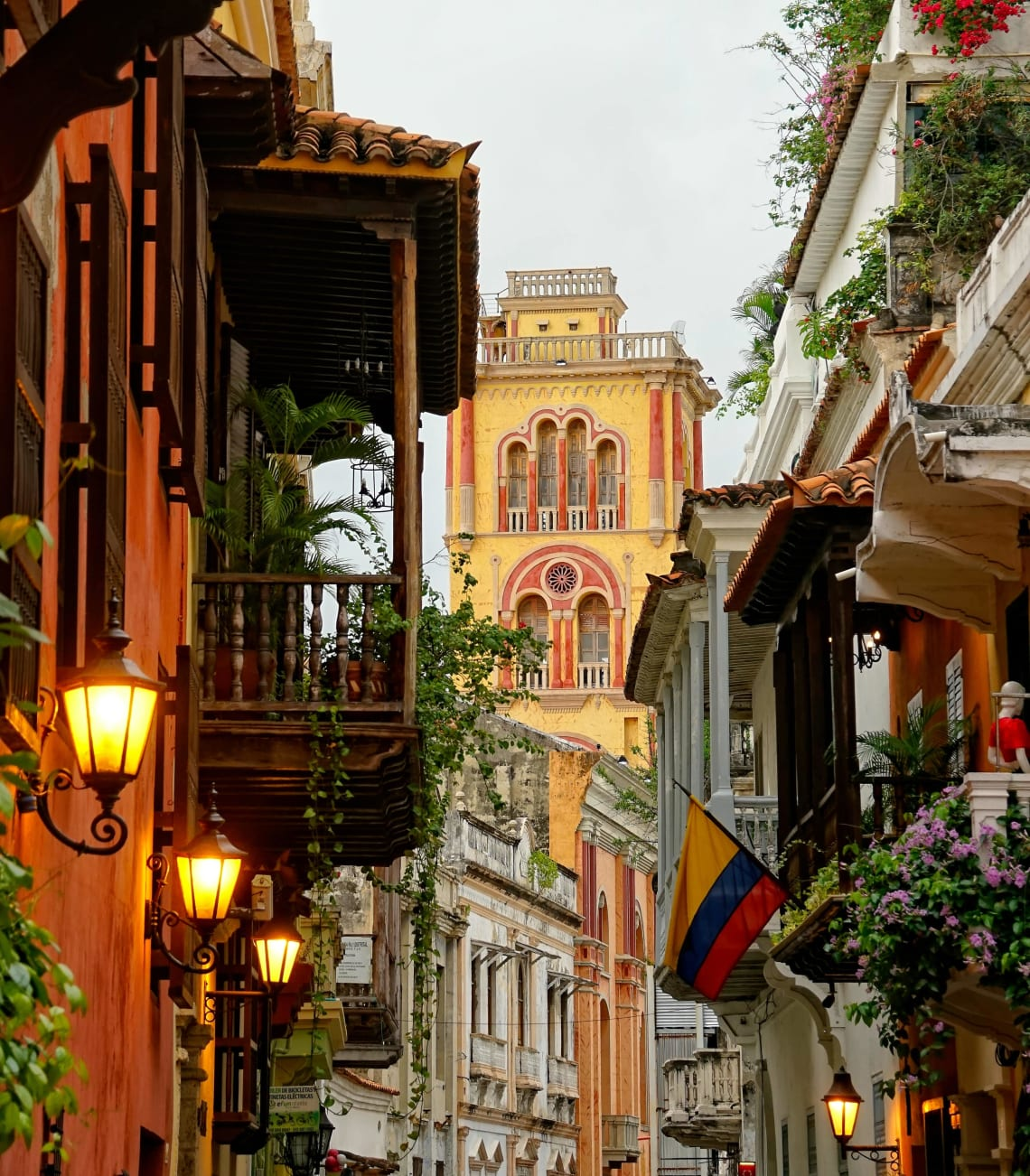 Beautiful architecture of Cartagena, Colombia