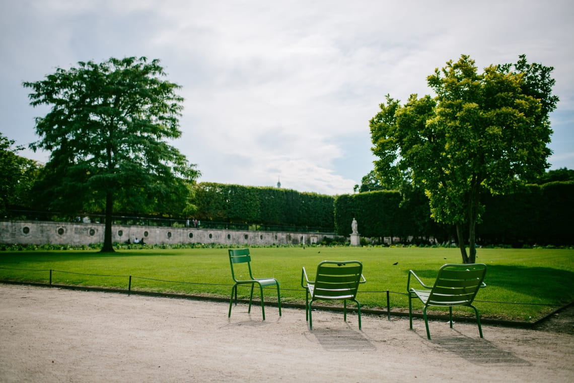 Parks and gardens in Paris, France
