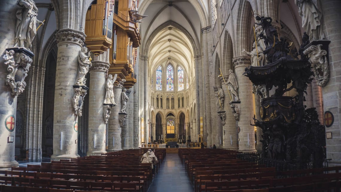 Places to visit in Brussels: Gothic Cathedral of St. Michael and St. Gudula