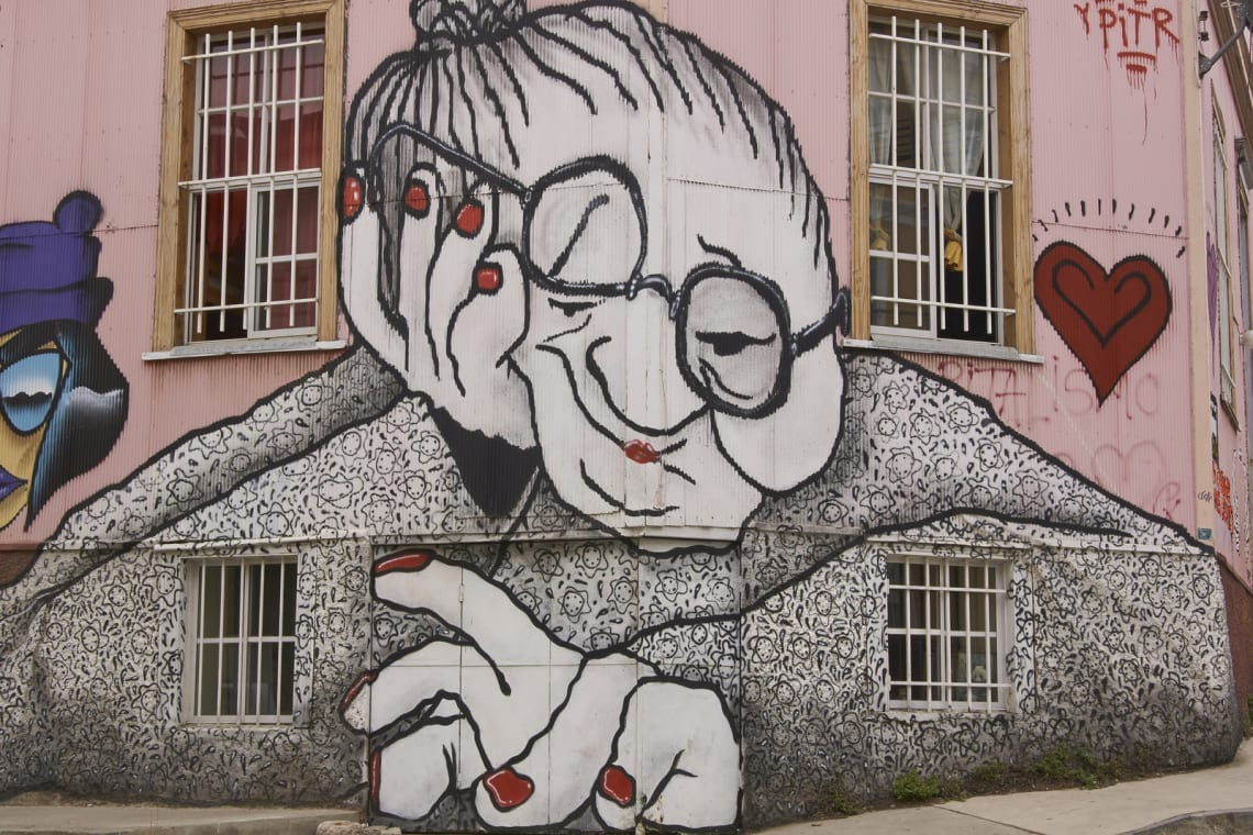 arte de rua de valparaiso chile grafittis