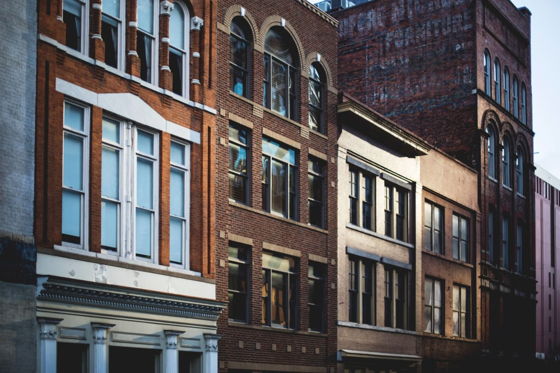 Buildings in downtown Nashville, Tennessee, United States