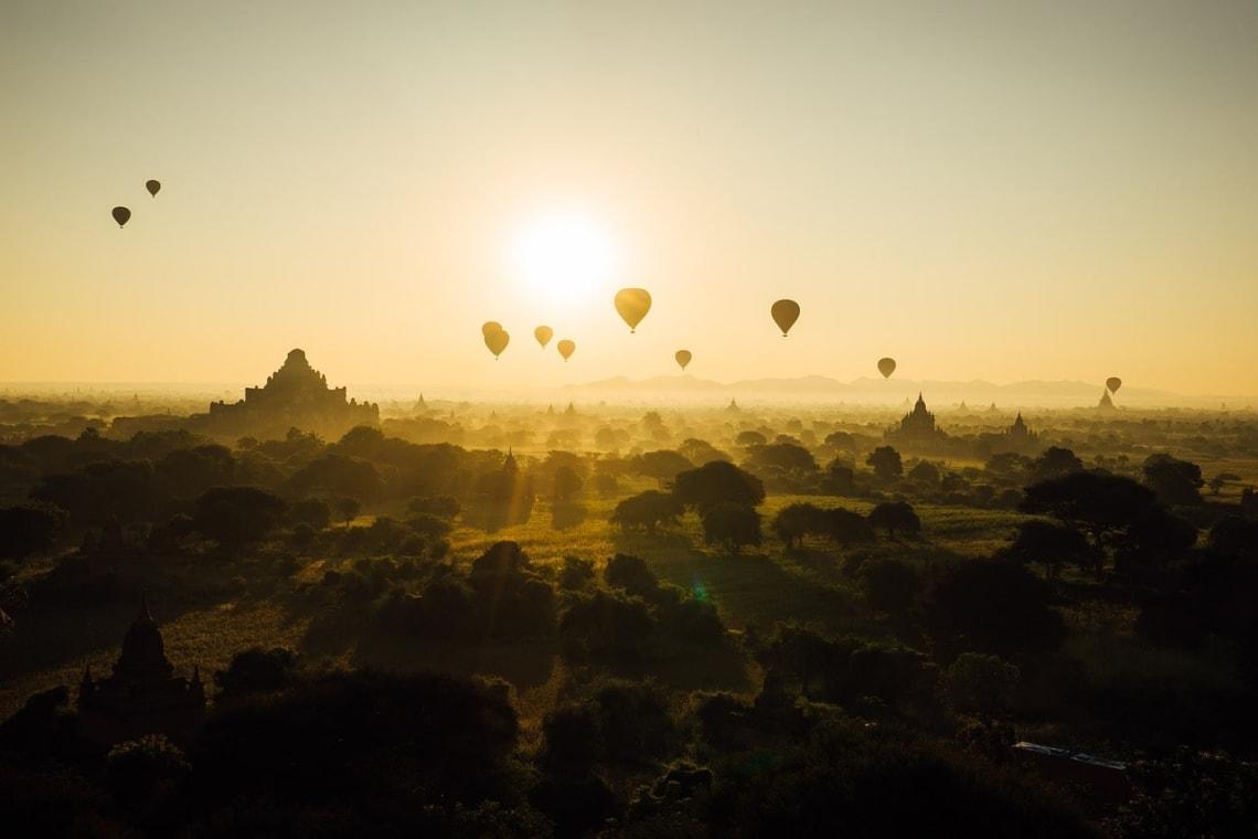 Sunrise, Bagan, Myanmar.