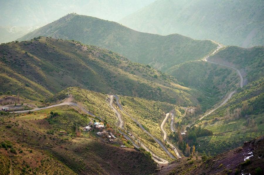 Estrada de los Caracoles, entre a Argentina e o Chile