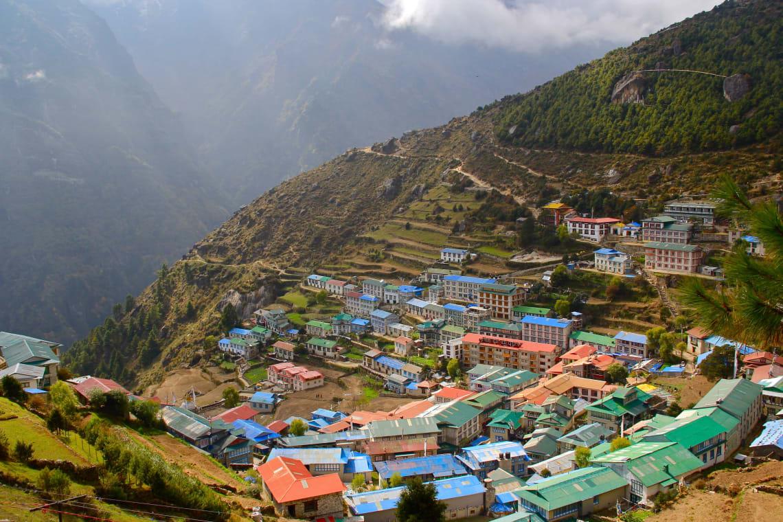 Mountainside village, Nepal