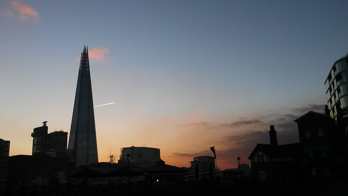 sunset view in London