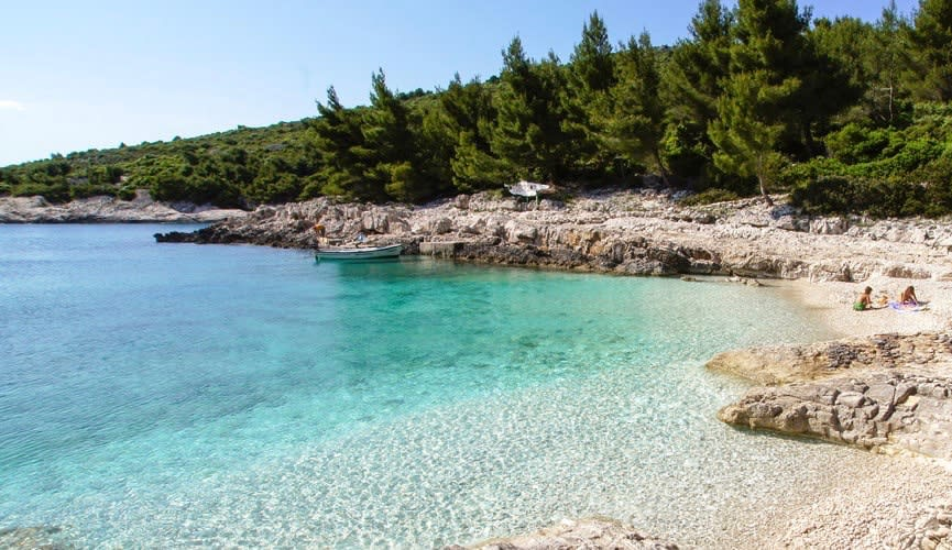 Turquoise water at Robinson's Beach, Croatia
