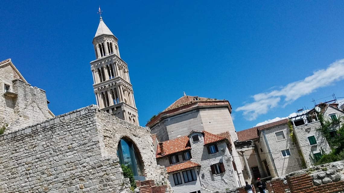 Old town in Split Croatia