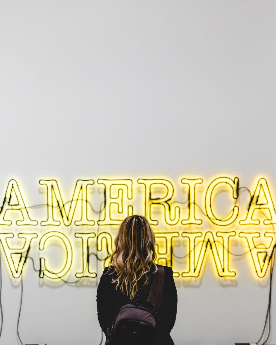America sign, The Broad, Los Angeles, United States