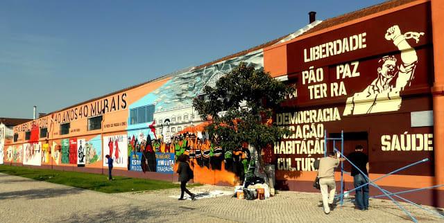 Os murais de Évora, Portugal
