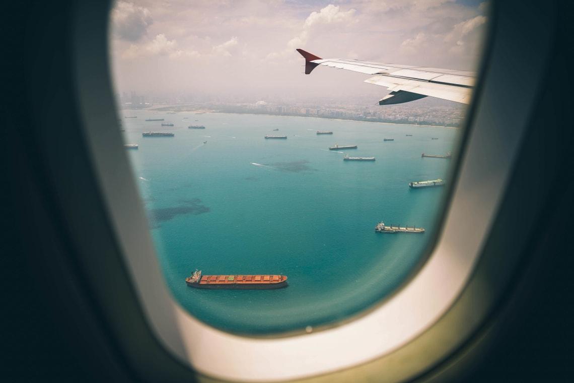 Panoramic flight views