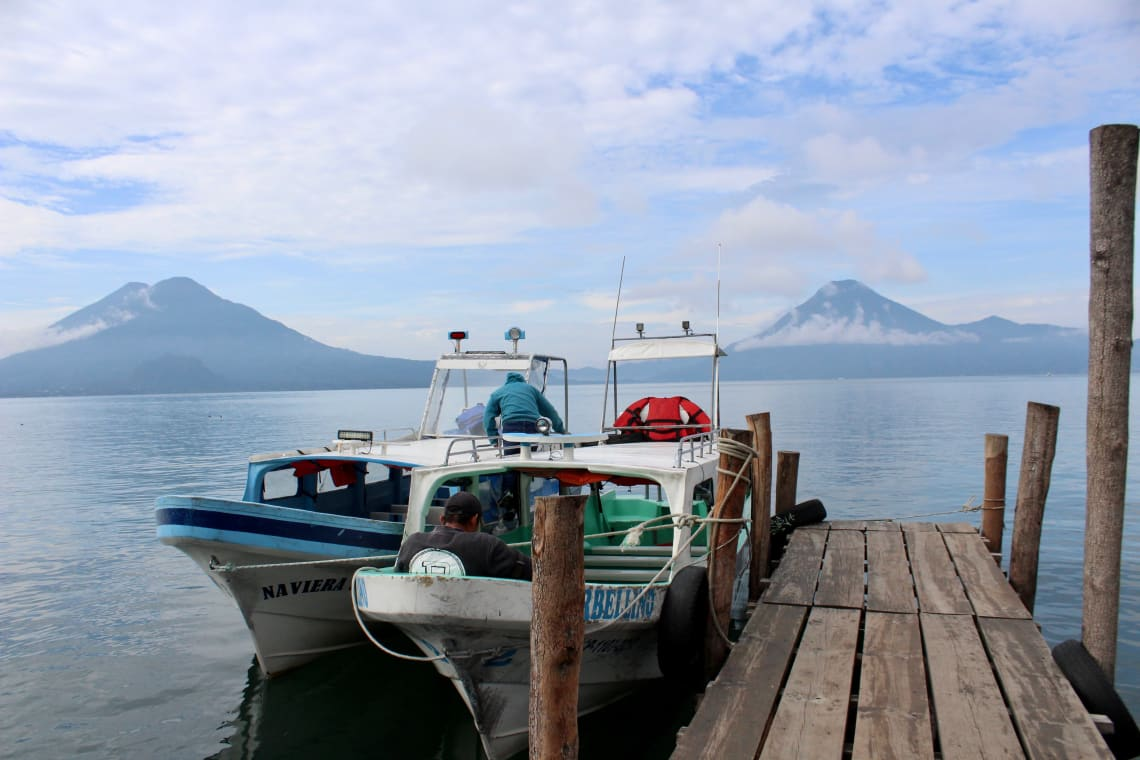 Best things to do in Lake Atitlan: visit all the different towns by boat