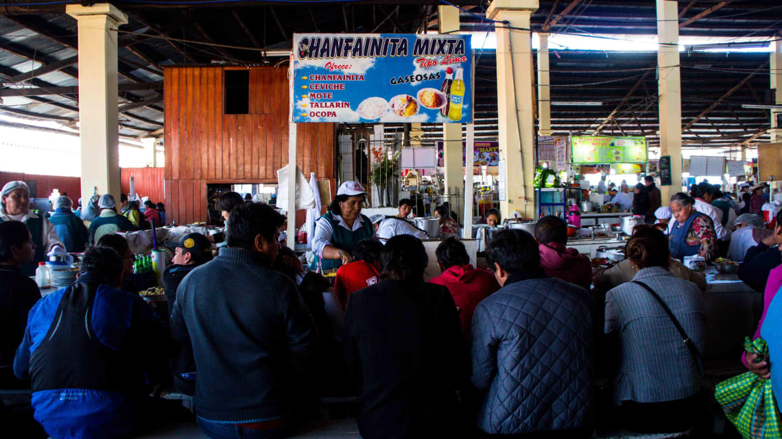 Onde comer em Cusco: Mercado de San Blas