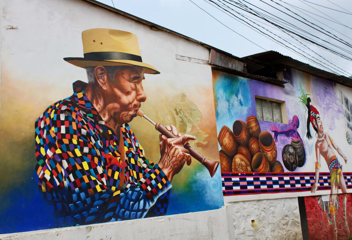 Free things to do in Lake Atitlan: browse the street art