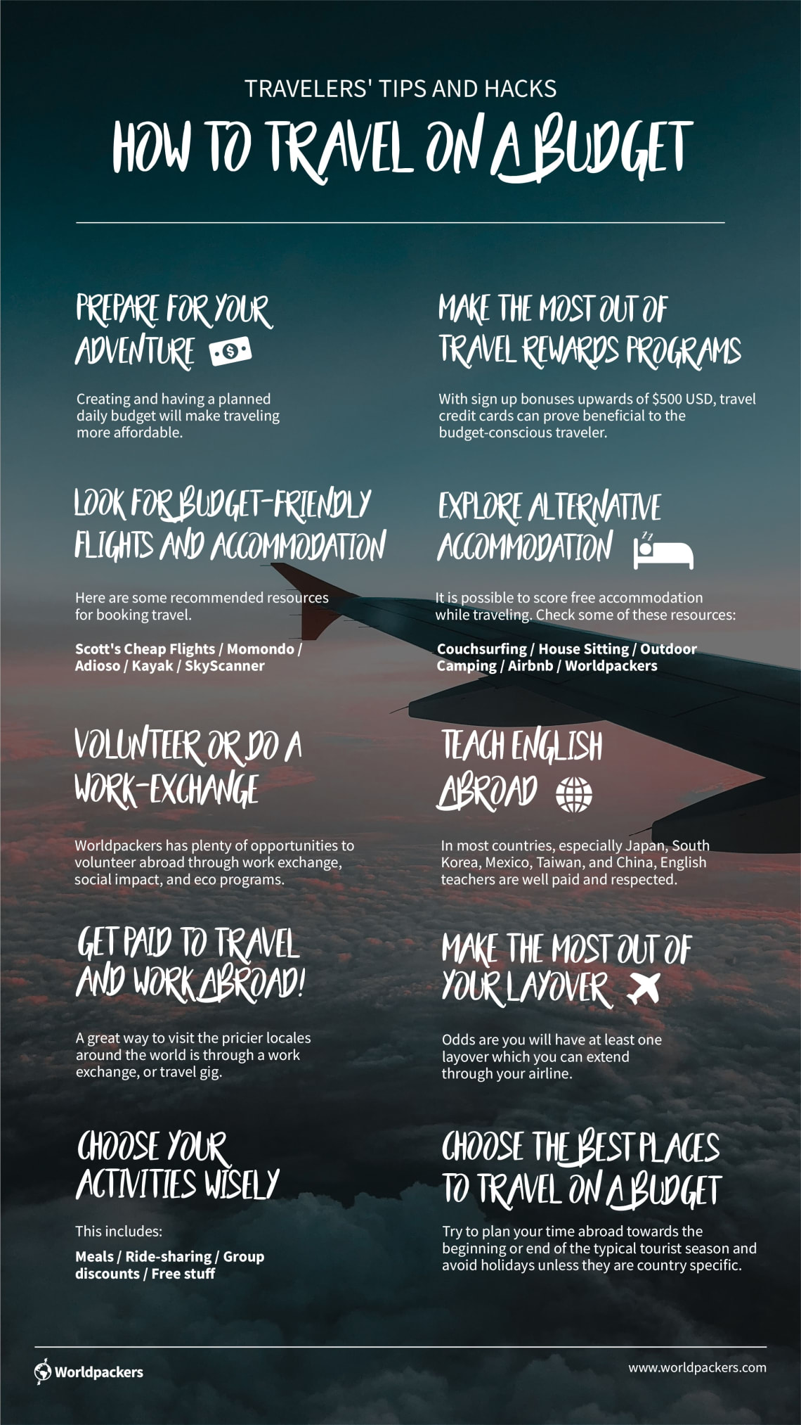 Infographic: travel on a budget