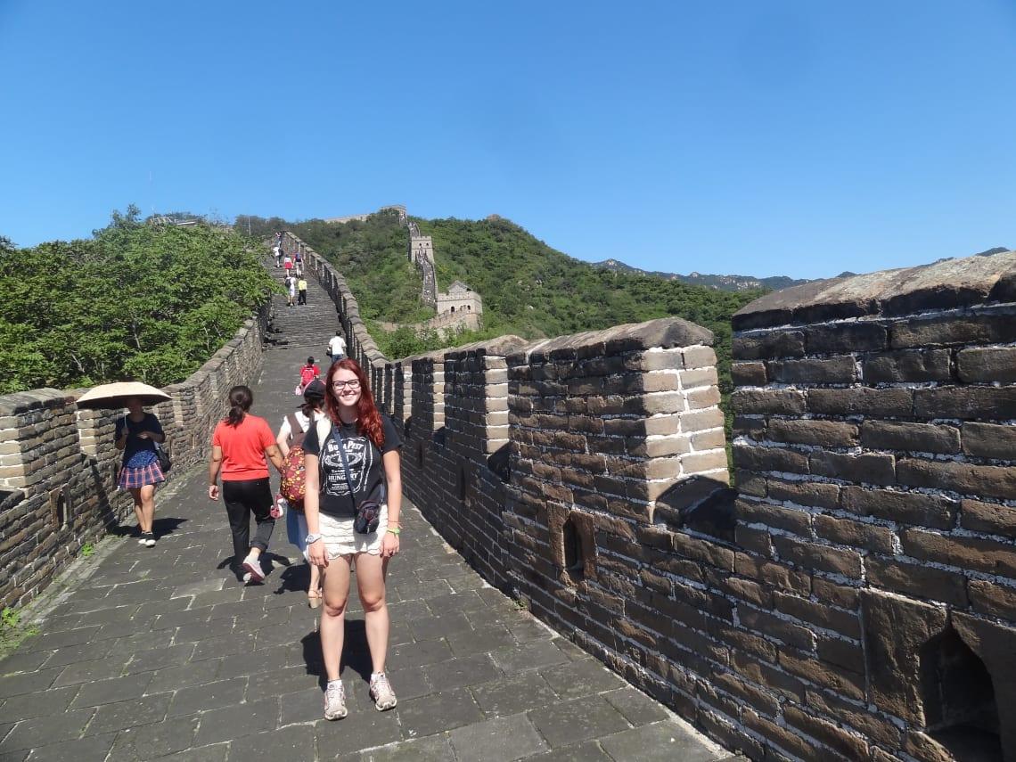 eu na Muralha da China!