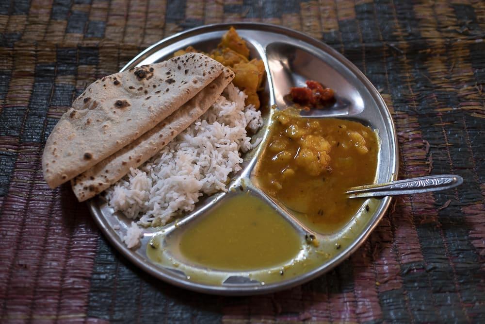 comida en la India