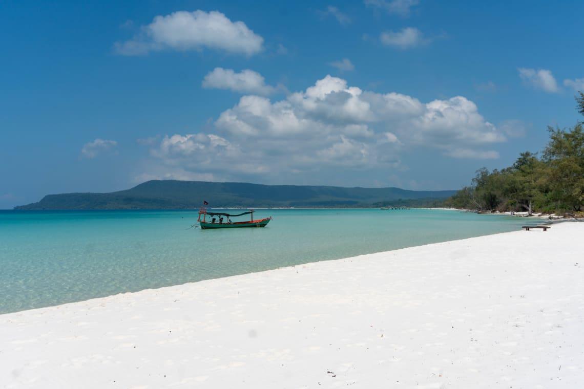 Hacer la ruta del Mekong: Laos, Camboya y Vietnam - Worldpackers - playa en Camboya Koh Rong