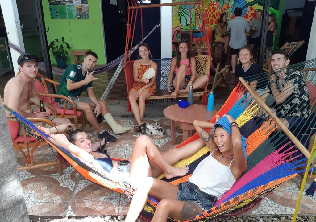 Happy hostel guests and volunteers, The Townhouse, Nicaragua