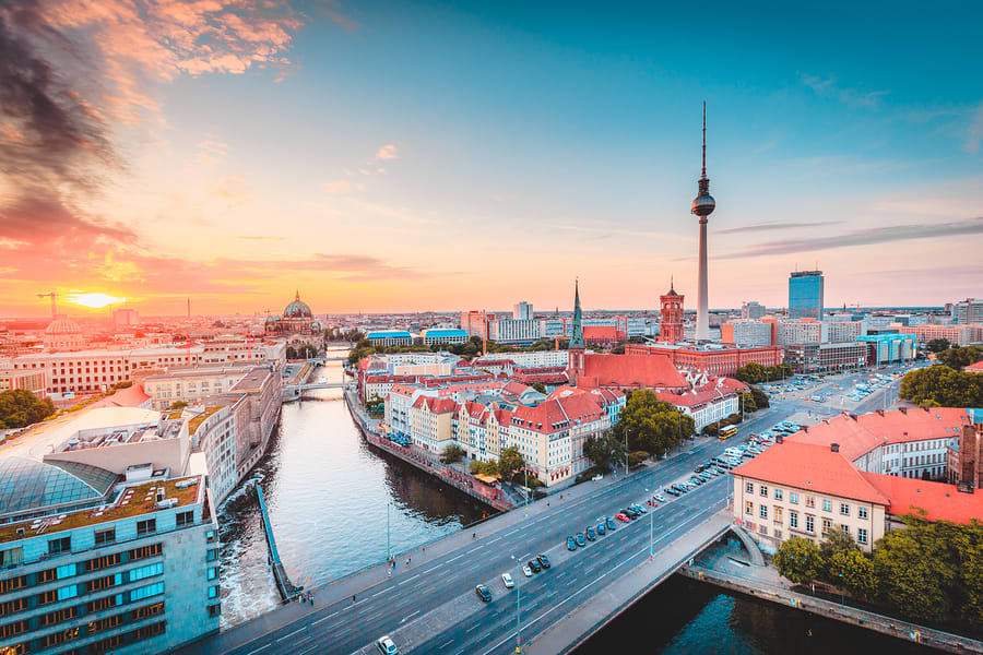 Vista panorâmica da cidade de Berlim