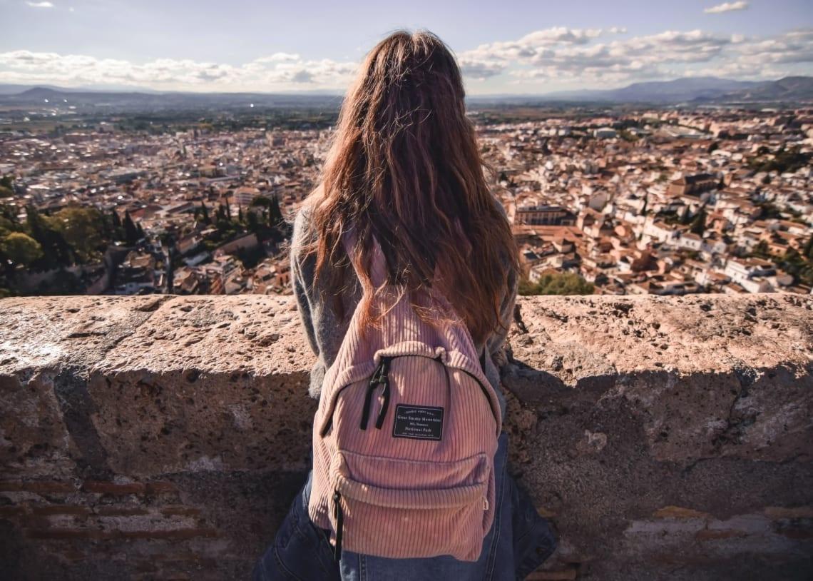 Solo female traveler, Alhambra, Spain