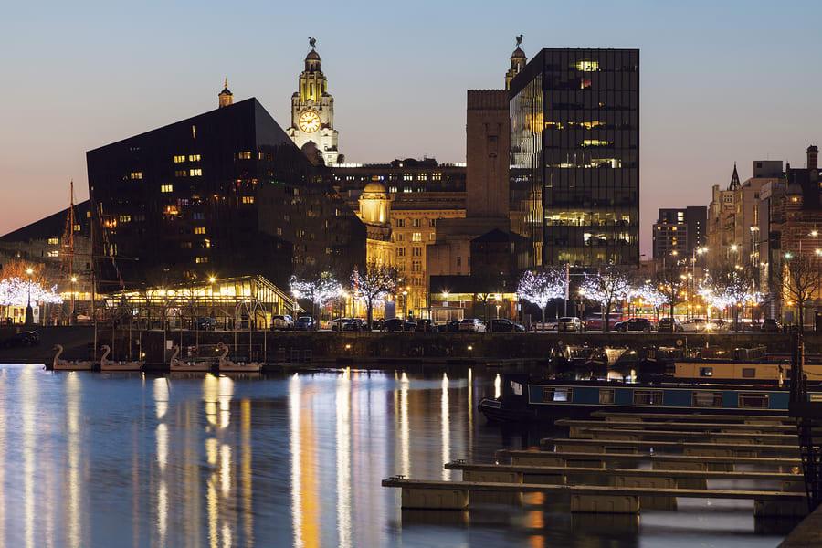 Vista da cidade de Liverpool