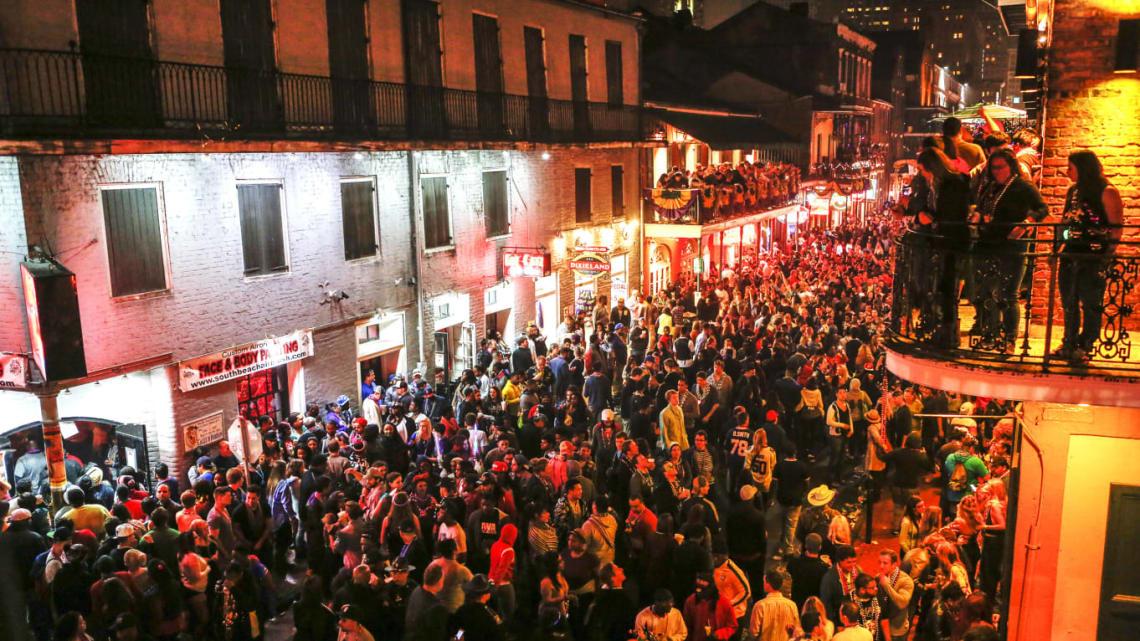 Bourbon Street Closing, Mardi Gras, Image Credit: Skip Bolen/Getty