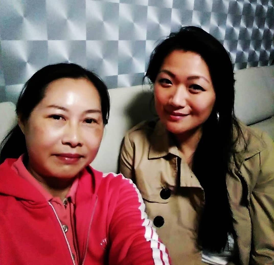 Torisa e sua mãe