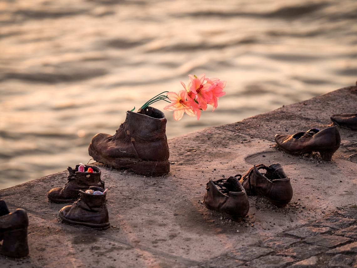Memorial Shoes on the Danube Bank