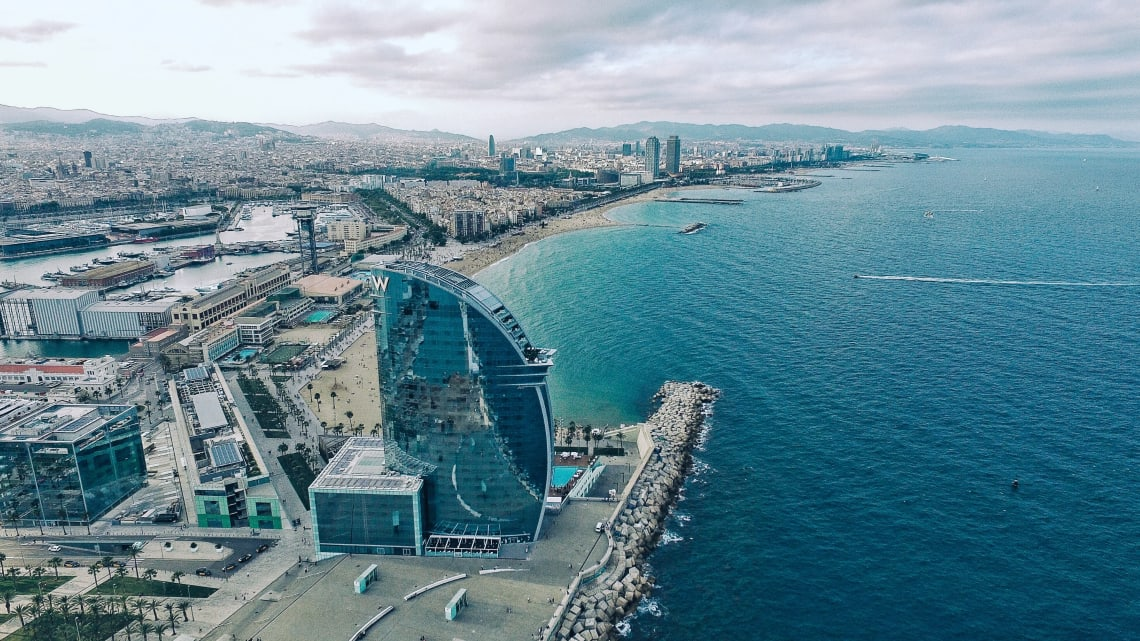 Mediterranean Sea, Barcelona, Spain